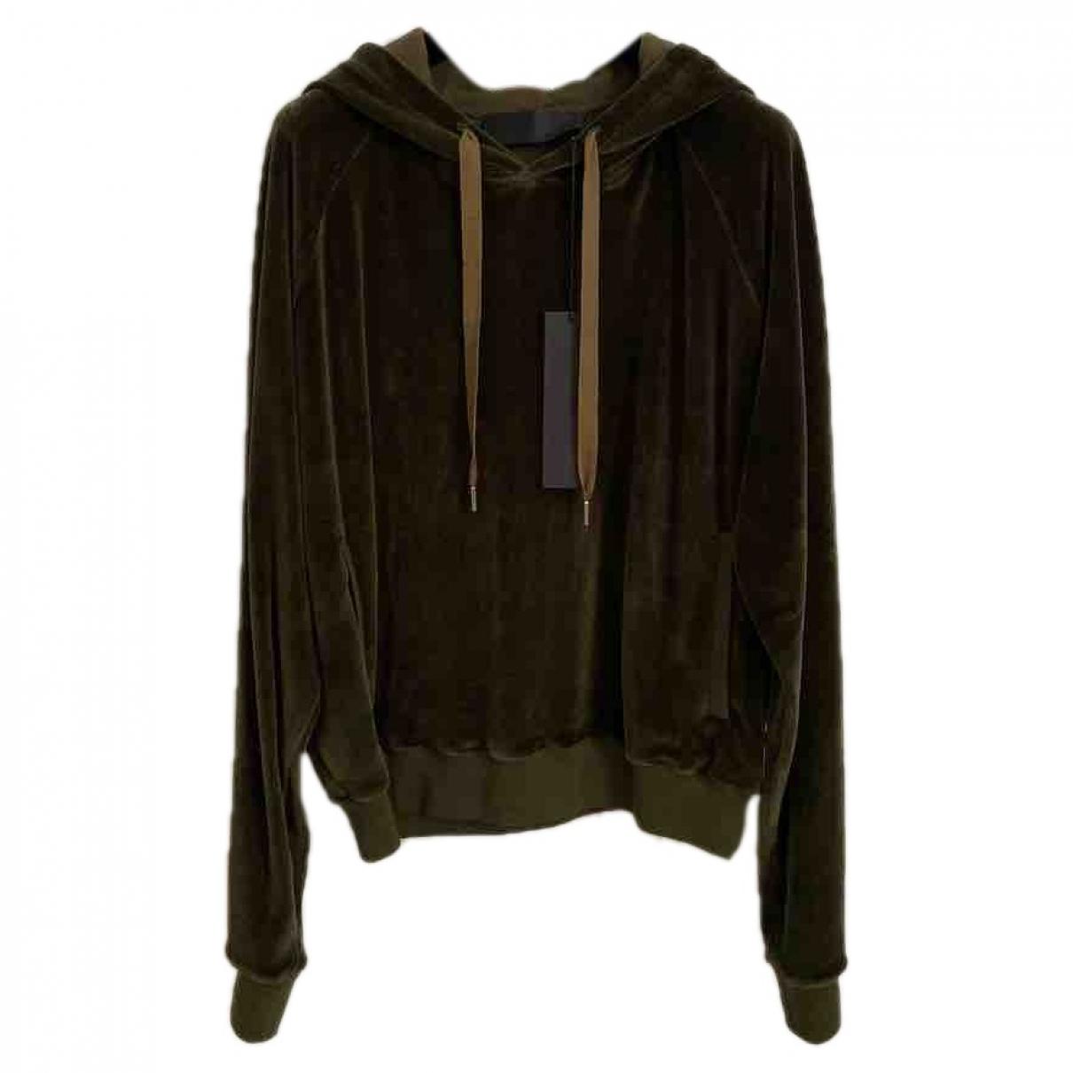 Haider Ackermann \N Pullover.Westen.Sweatshirts  in  Khaki Baumwolle