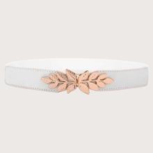 Cinturon con diseño de hoja metalica