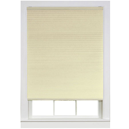Honeycomb Cellular Pleated Cordless Light-Filtering Shade, One Size , Beige