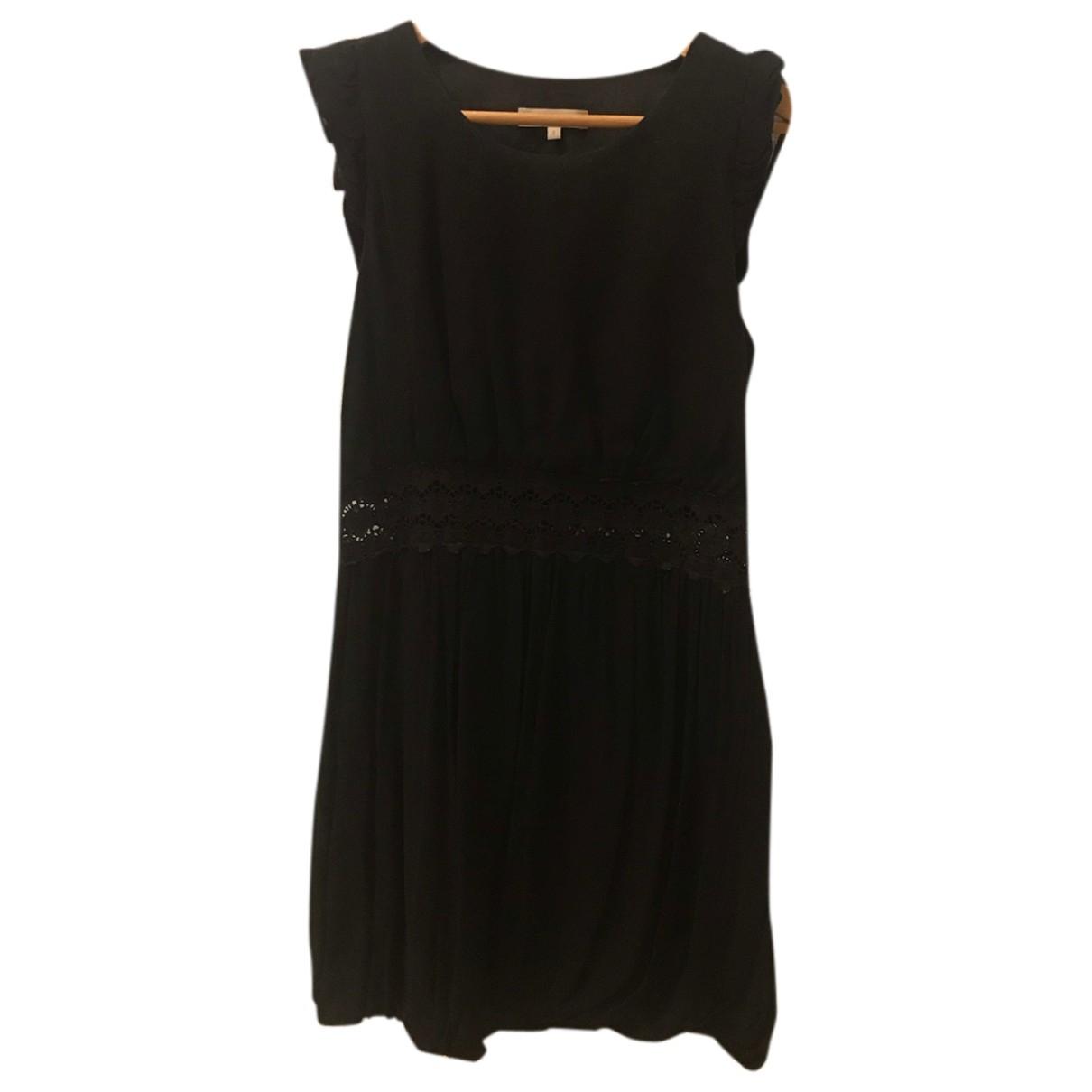 Sandro \N Kleid in  Schwarz Baumwolle