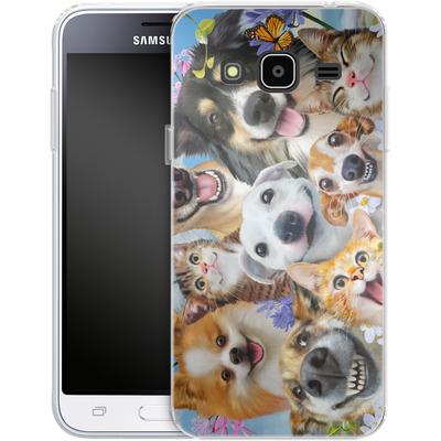 Samsung Galaxy J3 (2016) Silikon Handyhuelle - Selfie Fun in the Sun von Howard Robinson