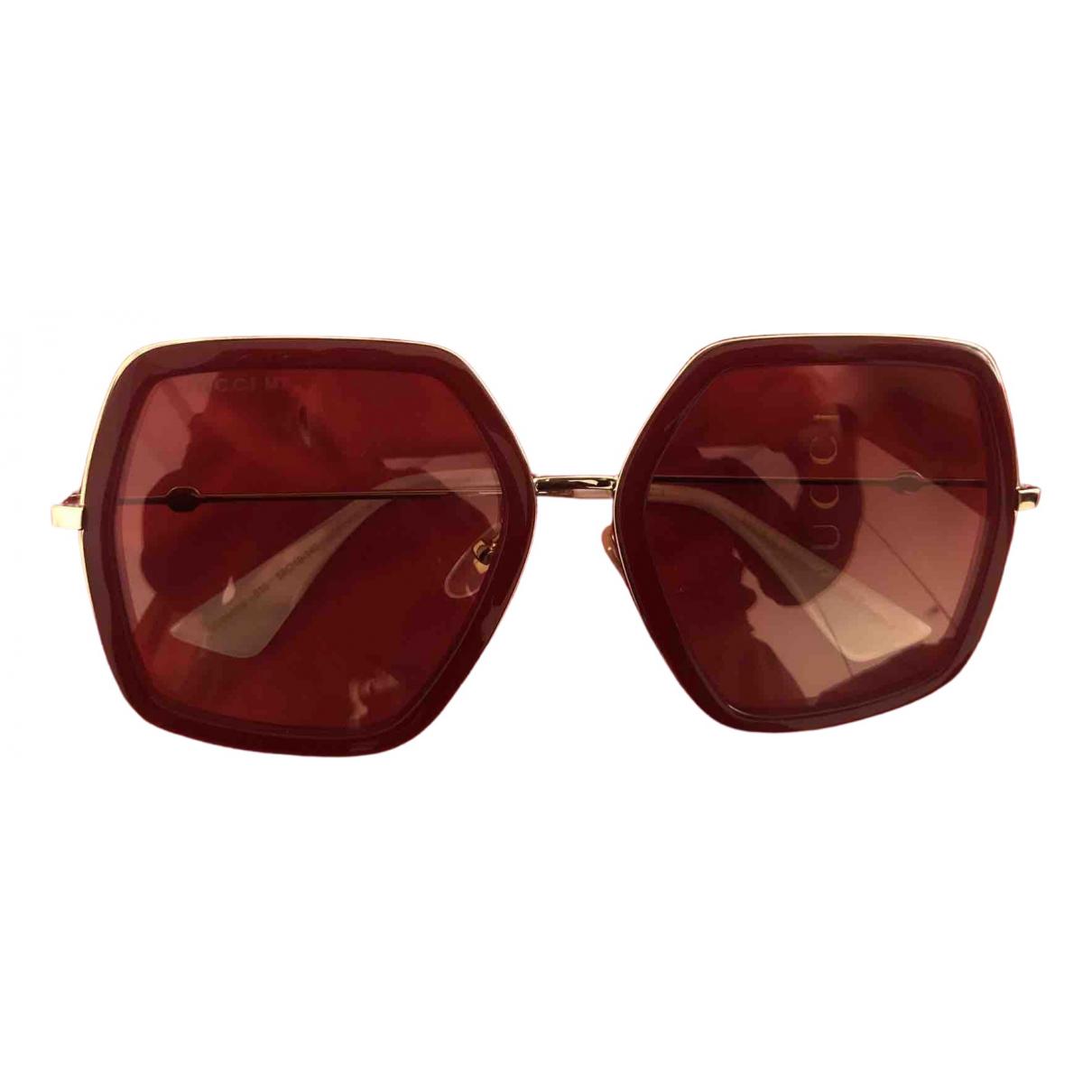 Gucci N Red Metal Sunglasses for Women N