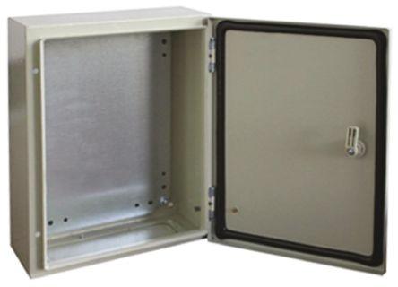 RS PRO Steel Wall Box, IP66, 200mm x 300 mm x 400 mm, Grey
