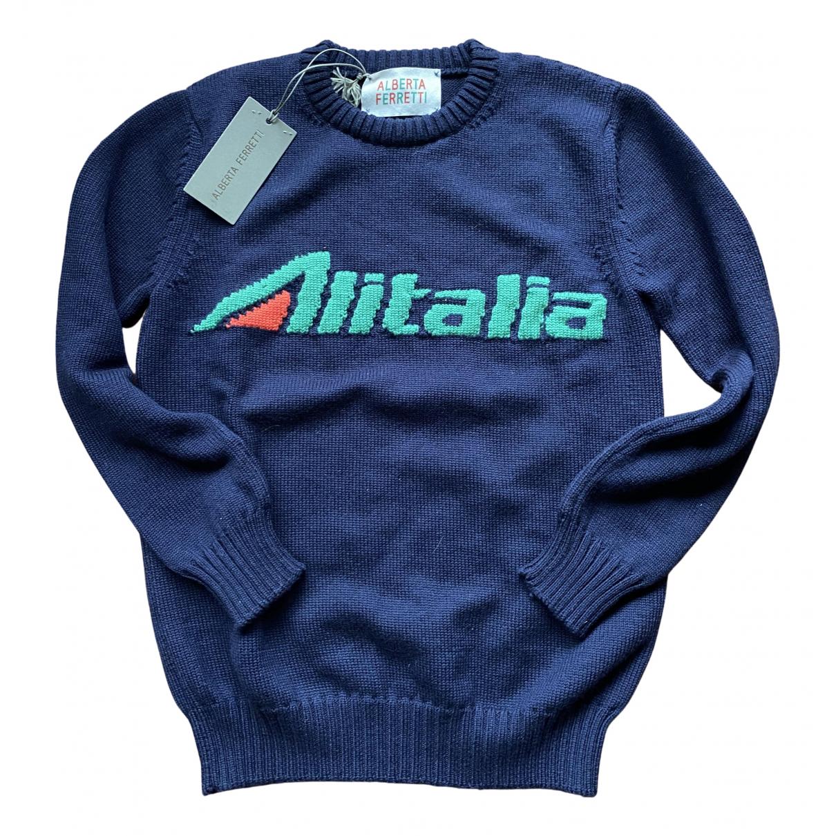Alberta Ferretti - Pull   pour femme en laine - bleu