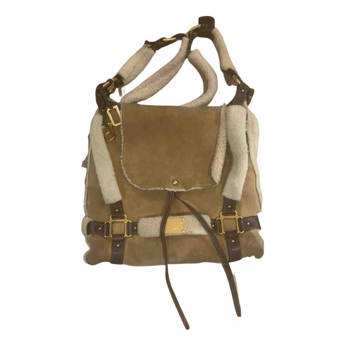 Dolce & Gabbana DG Girls Camel Suede handbag for Women N