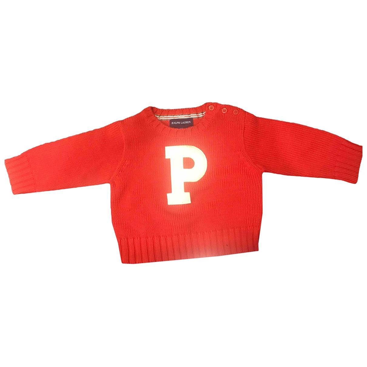 Ralph Lauren \N Pullover, StrickJacke in  Rot Baumwolle