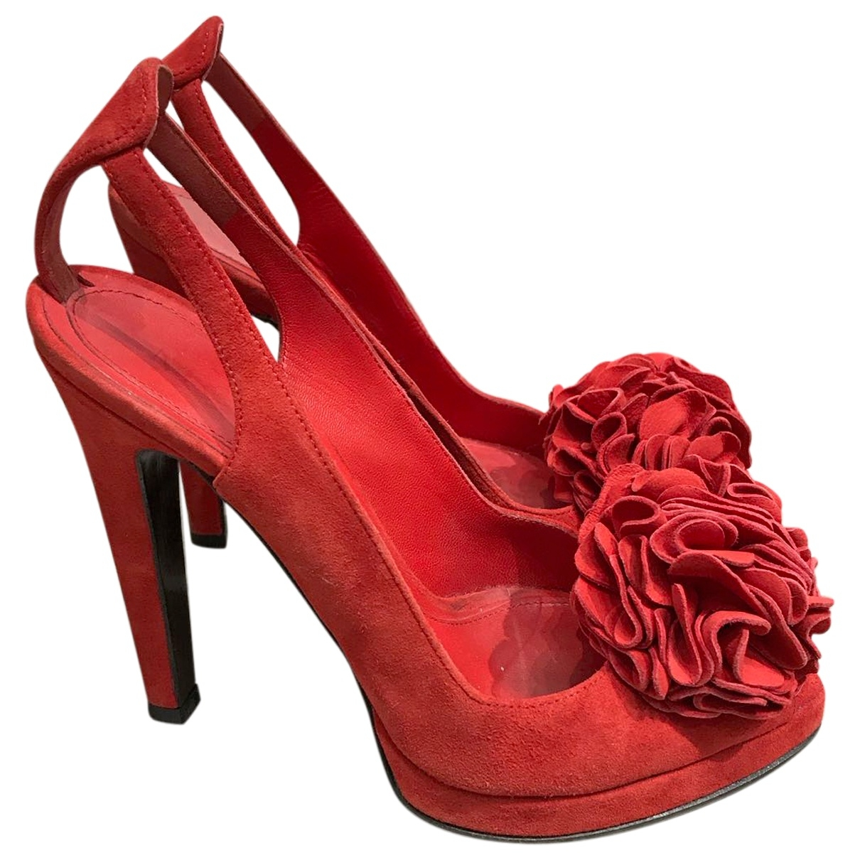 Alexander Mcqueen \N Brown Leather Sandals for Women 35.5 EU