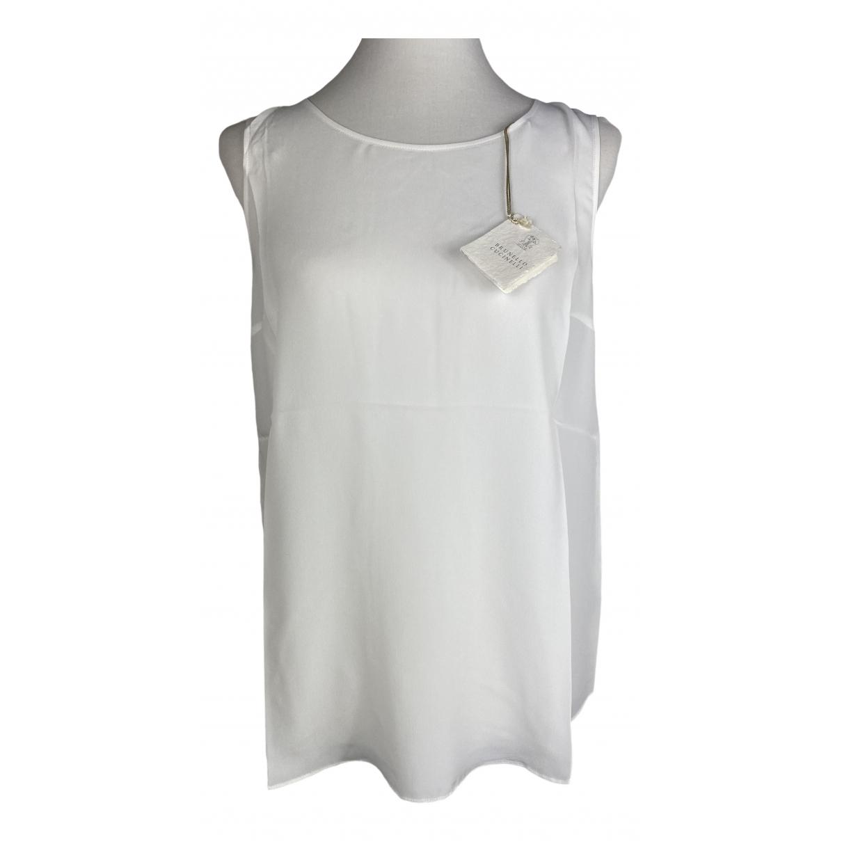 Brunello Cucinelli \N White Silk  top for Women M International