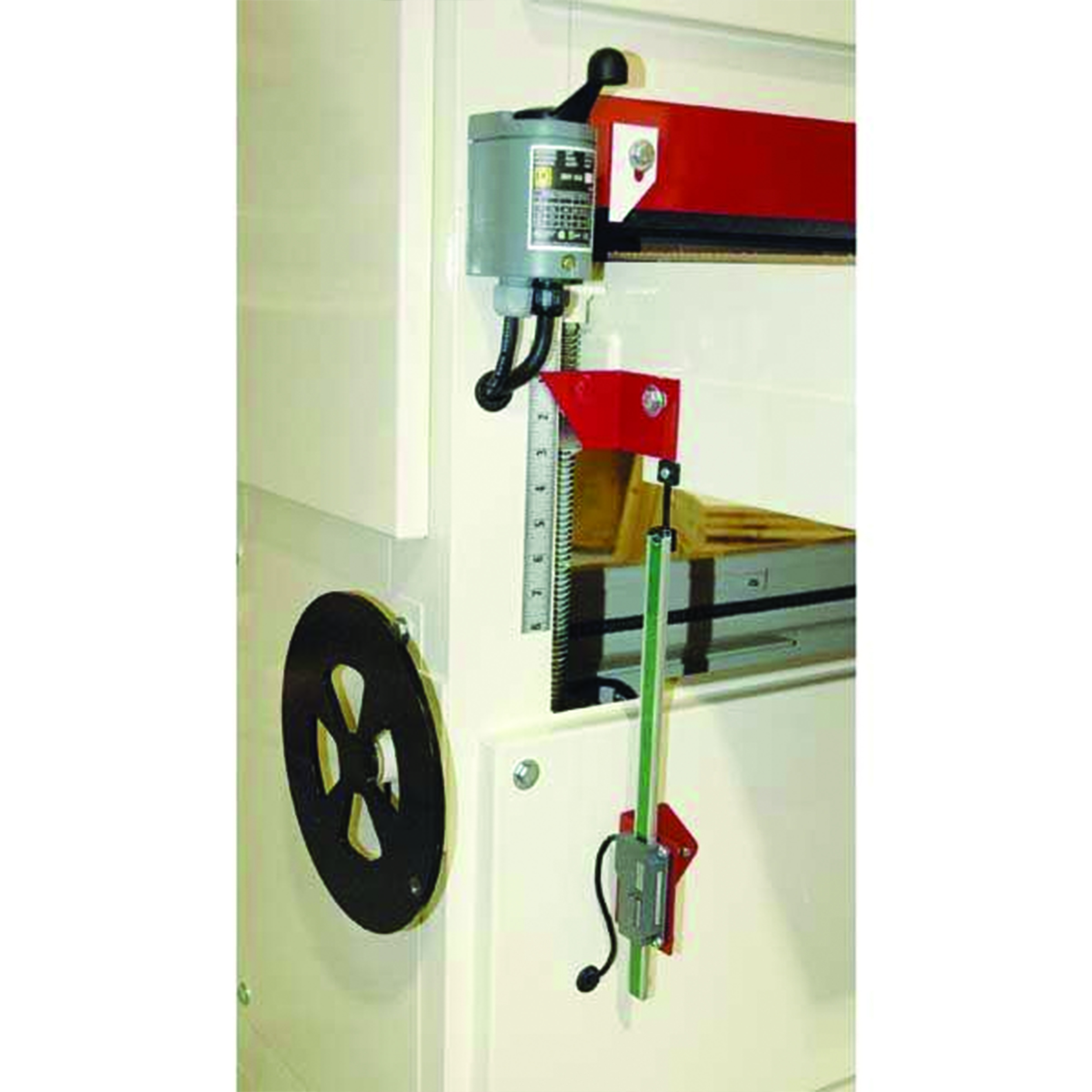 Power Lift Table for Safety Speed Wide Belt Sanders