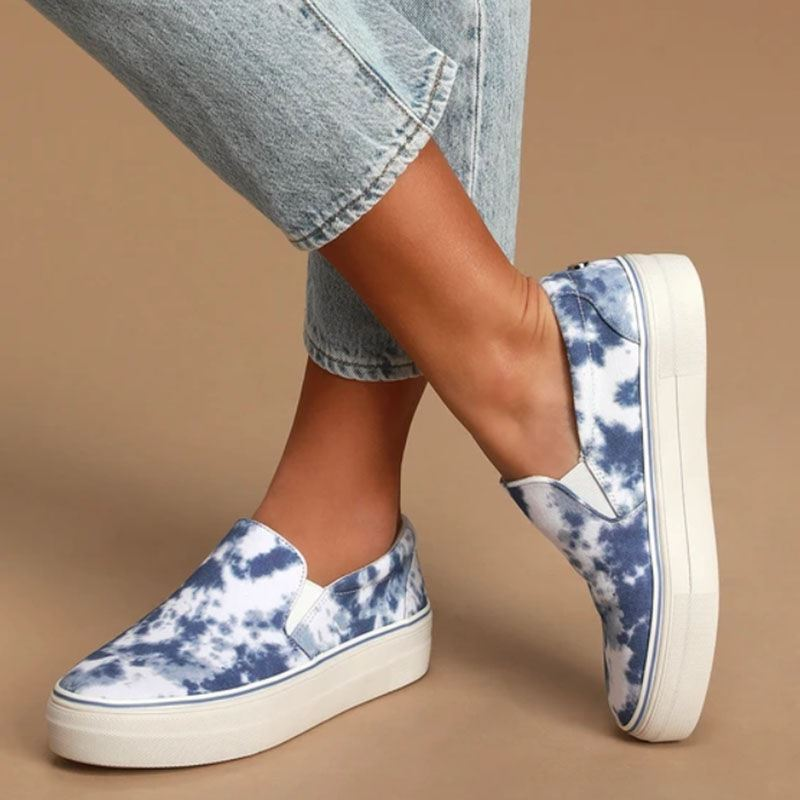 Ericdress Slip-On Round Toe Print Low-Cut Upper Thin Shoes