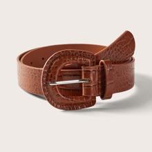 Cinturon con hebilla de cocodrilo