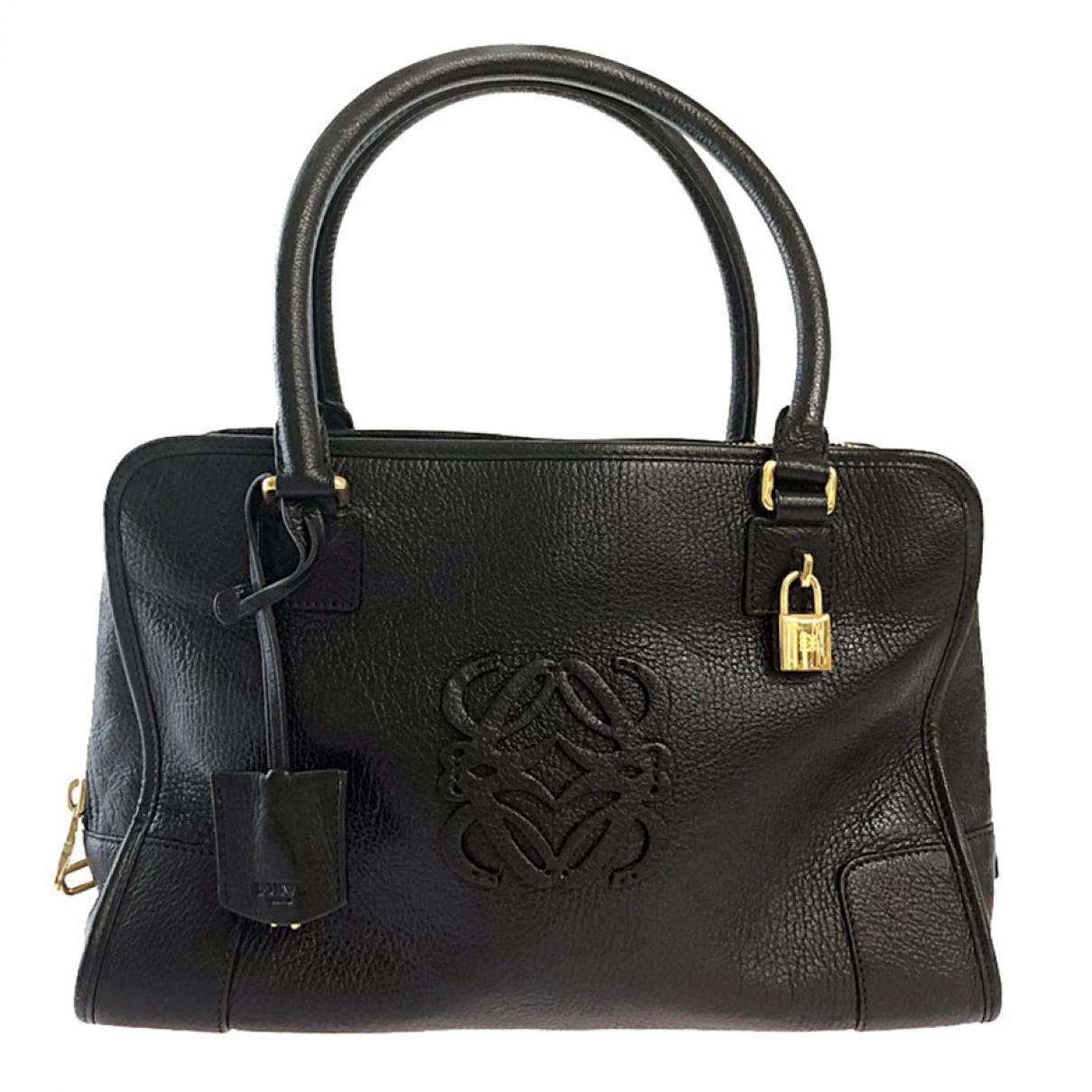 Loewe Amazona Handtasche in  Schwarz Leder