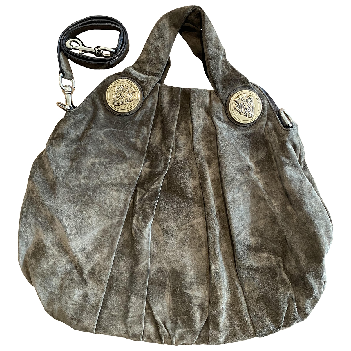Gucci Hysteria Khaki Suede handbag for Women \N