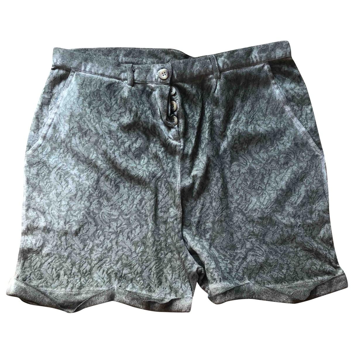 Maje \N Shorts in  Khaki Baumwolle