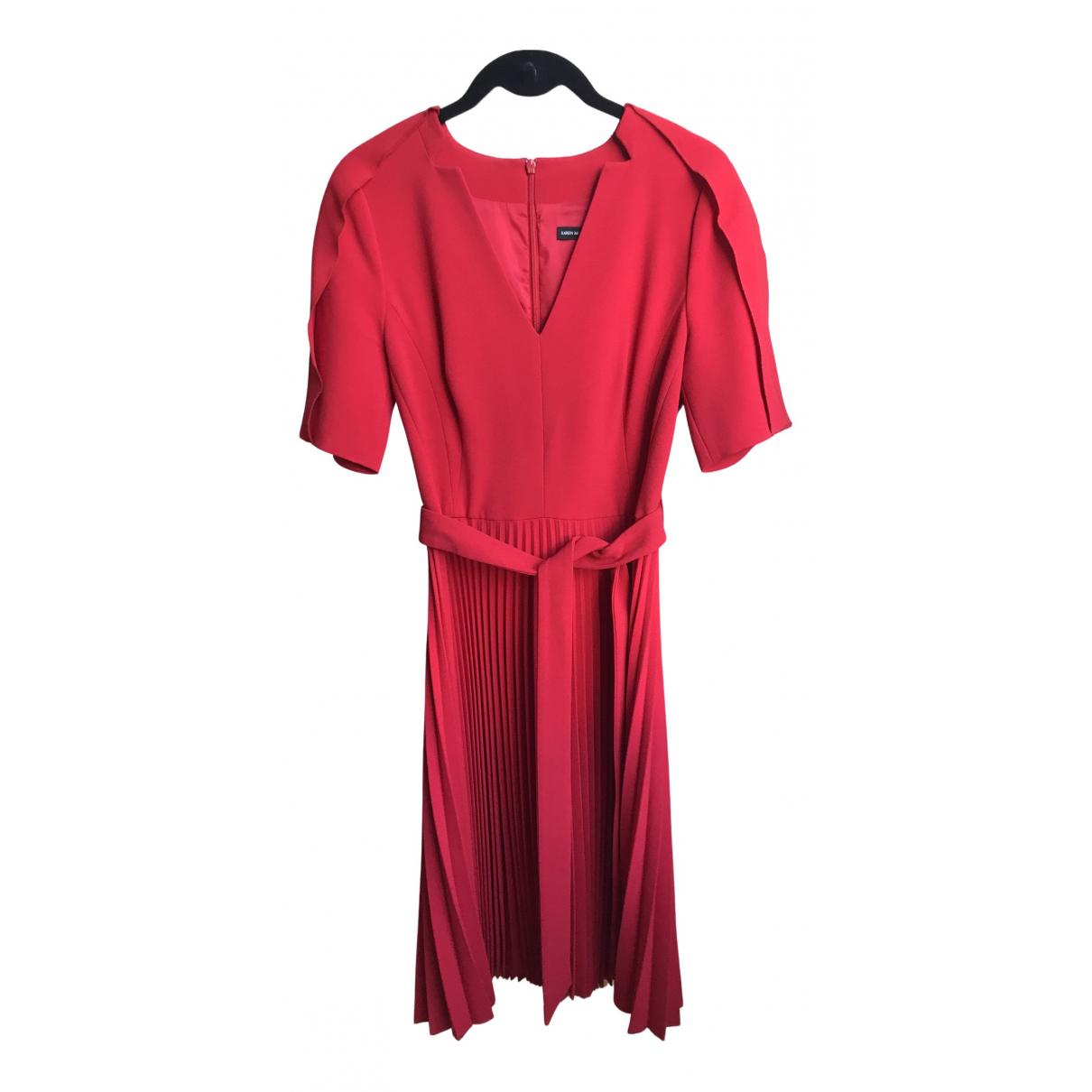 Karen Millen \N Kleid in  Rot Synthetik