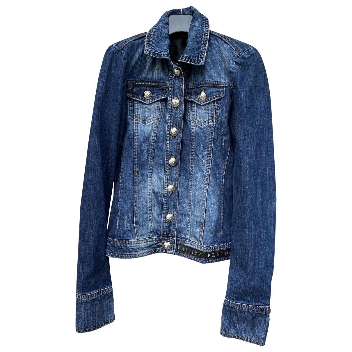 Philipp Plein \N Jacke in  Blau Denim - Jeans