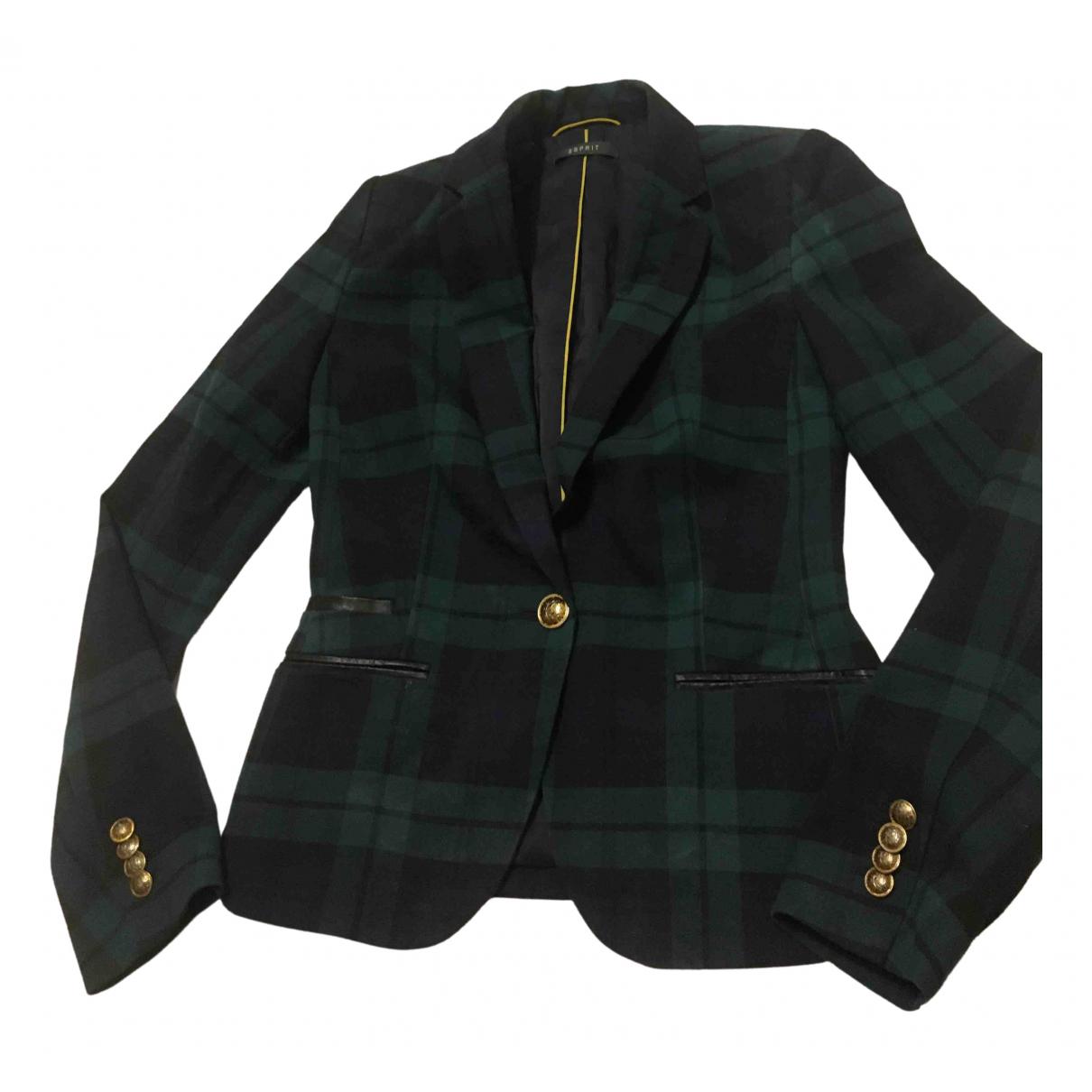 Esprit - Veste   pour femme en laine - vert