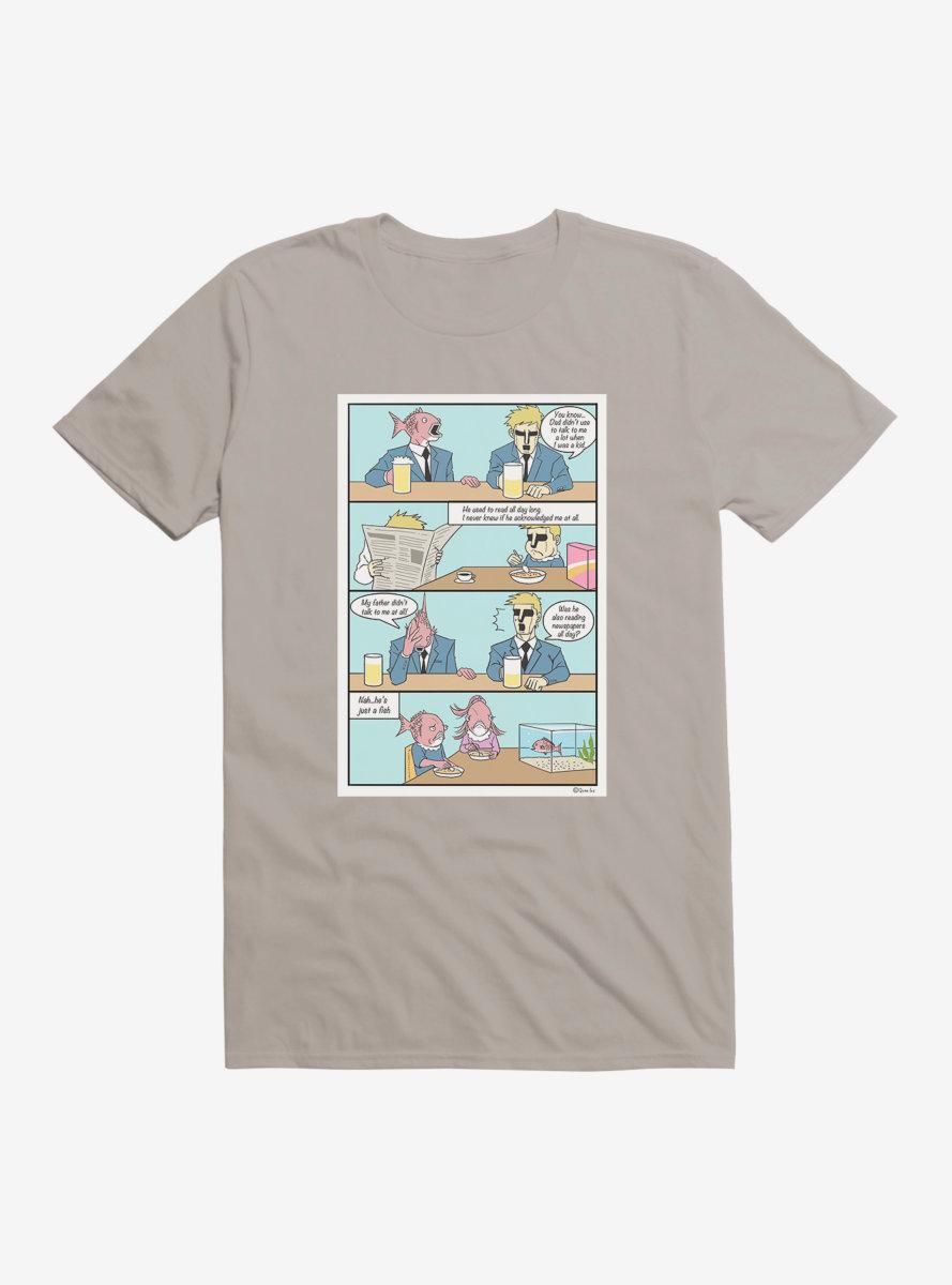 Business Fish Fathers Comic T-Shirt