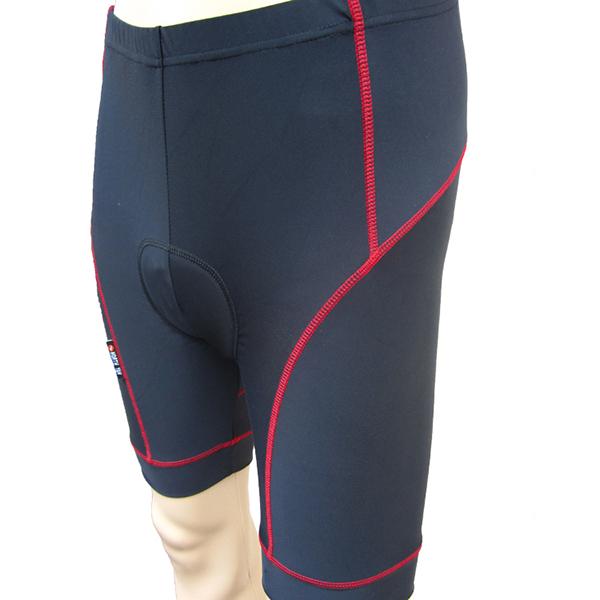 Men's Black Half Pants Cycling Padded Compression Tights