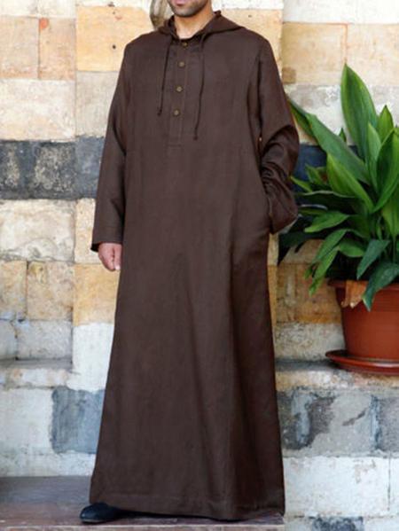 Yoins INCERUN Men Ethnic Robe Loose Long Sleeve Vintage Casual Hoodie