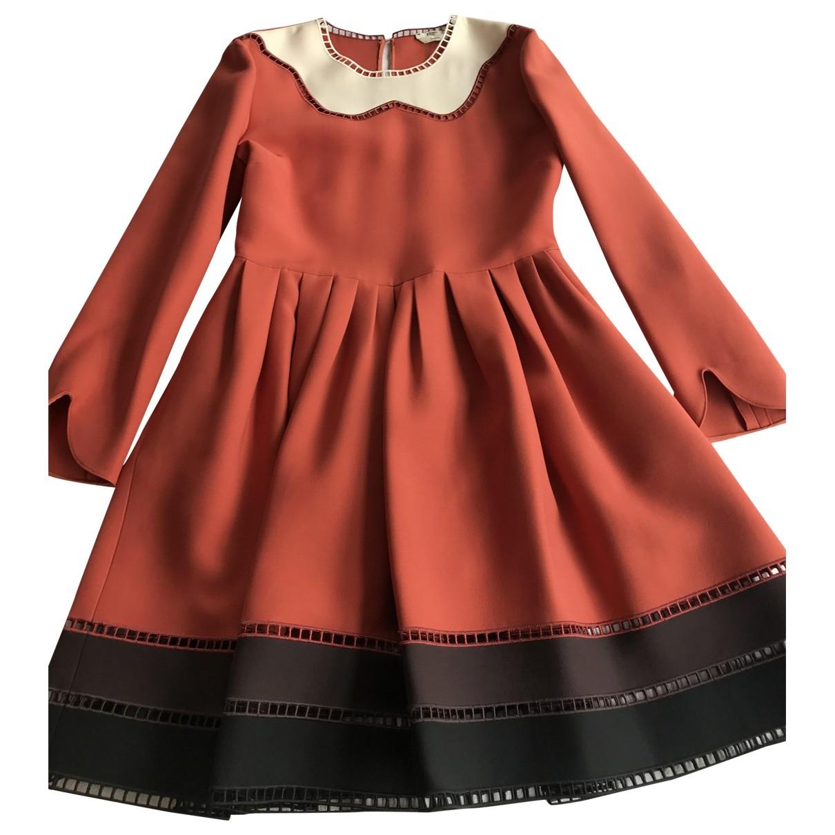 Fendi \N Kleid in  Orange Wolle