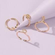 4 Stuecke Ring