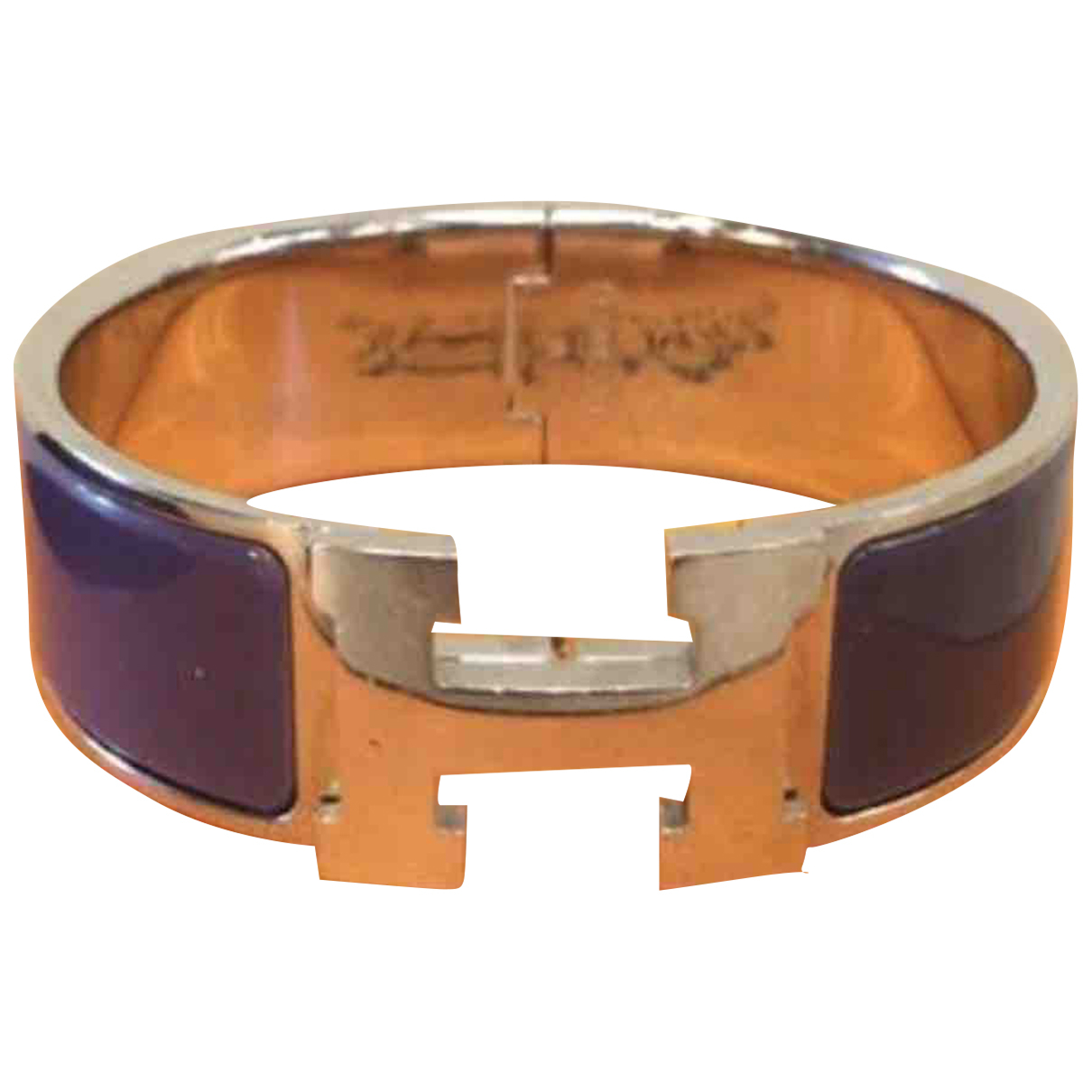 Hermes - Bracelet Clic H pour femme en metal - violet