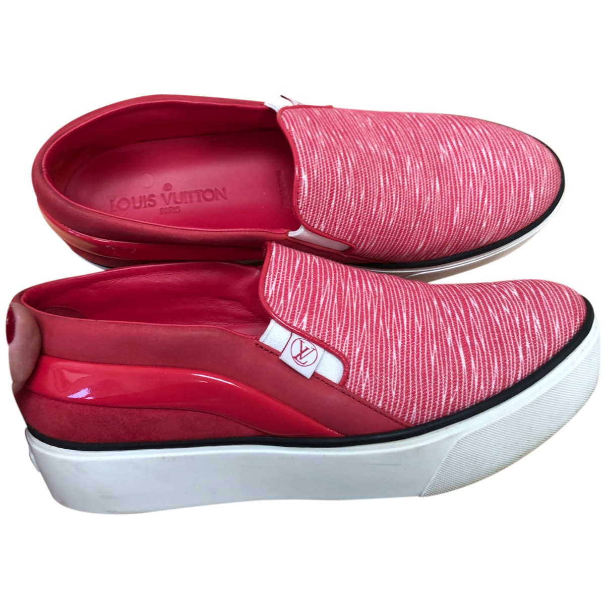 Louis Vuitton \N Espadrilles in  Rot Leder