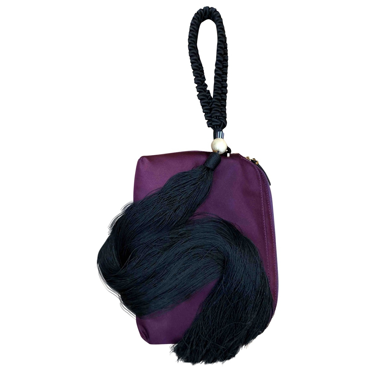The Row \N Handtasche in  Lila Seide