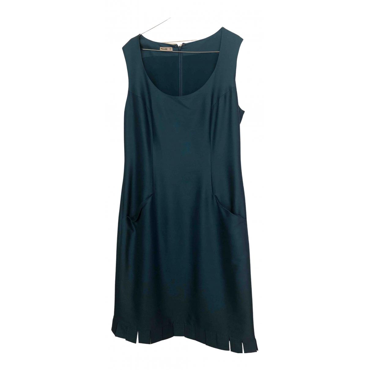 Pollini \N Turquoise Silk dress for Women 44 IT