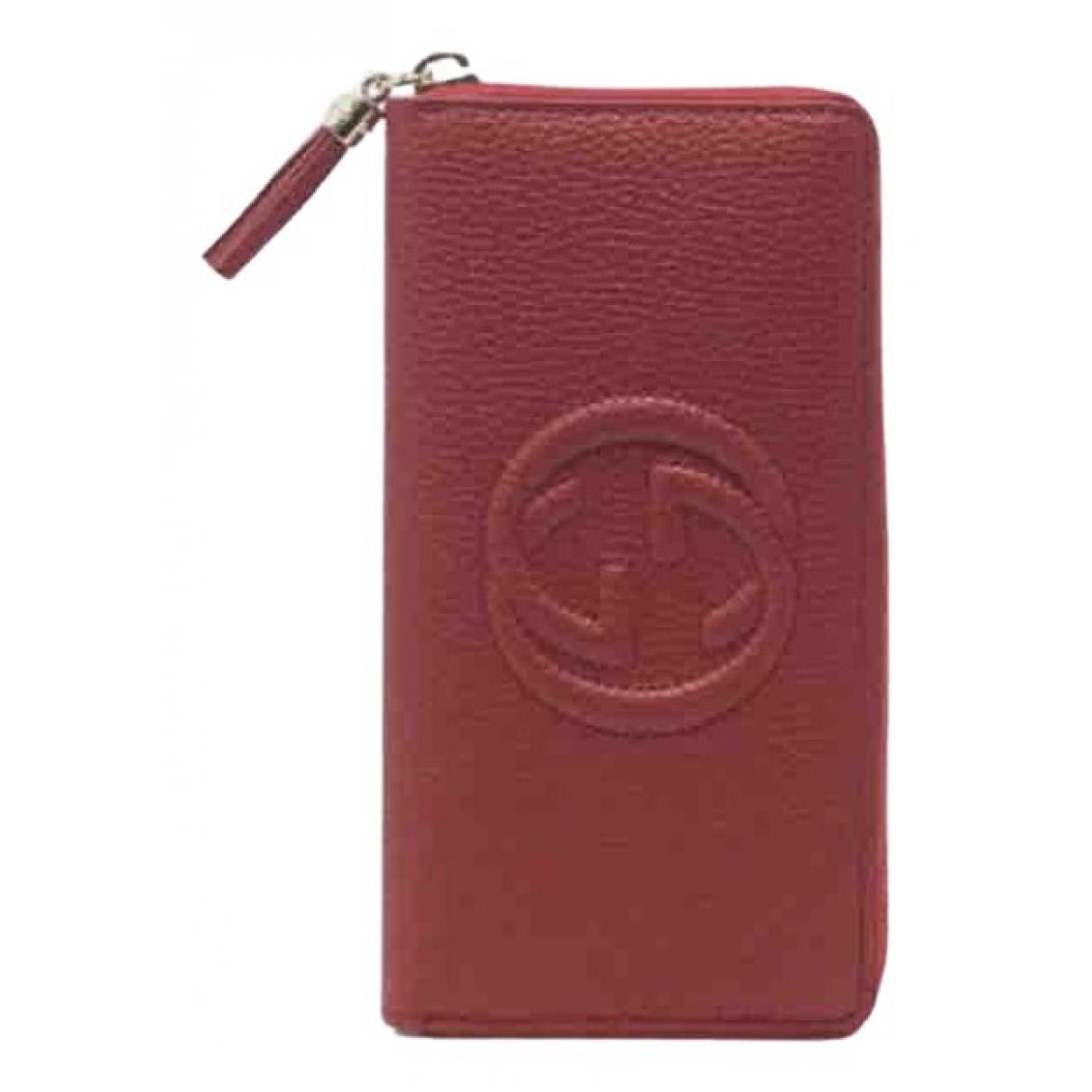 Gucci - Portefeuille Soho pour femme en cuir - rouge