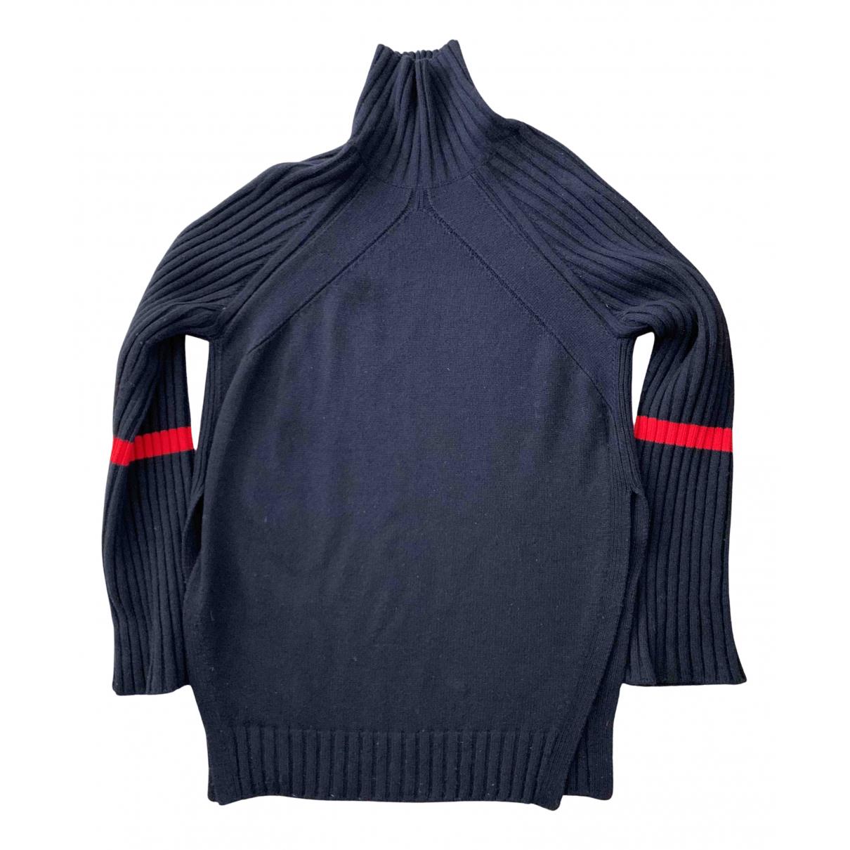 Celine \N Pullover in  Marine Kaschmir