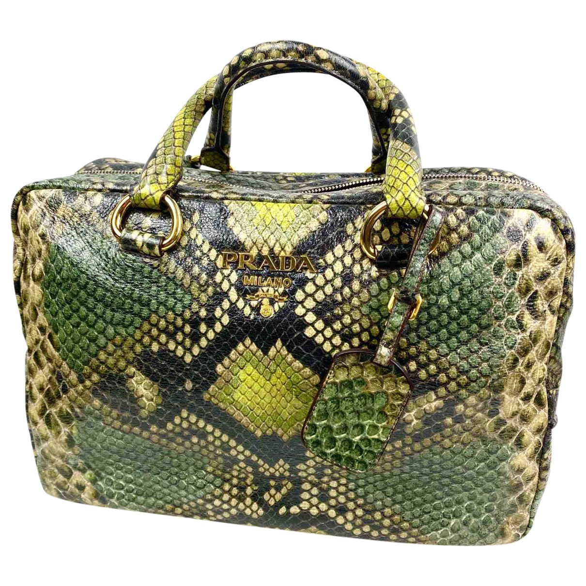 Prada \N Handtasche in  Gruen Leder