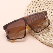 Sonnenbrille mit Schildpatt Muster Rahmen