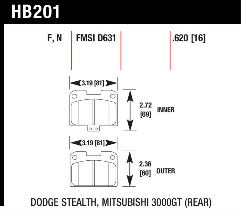 Hawk Performance HB201N.620 Disc Brake Pad Rear