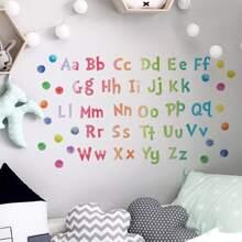 1set Kids Alphabet Print Wall Sticker