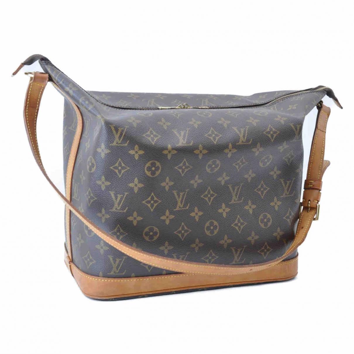 Louis Vuitton Amfar Handtasche in  Braun Leinen