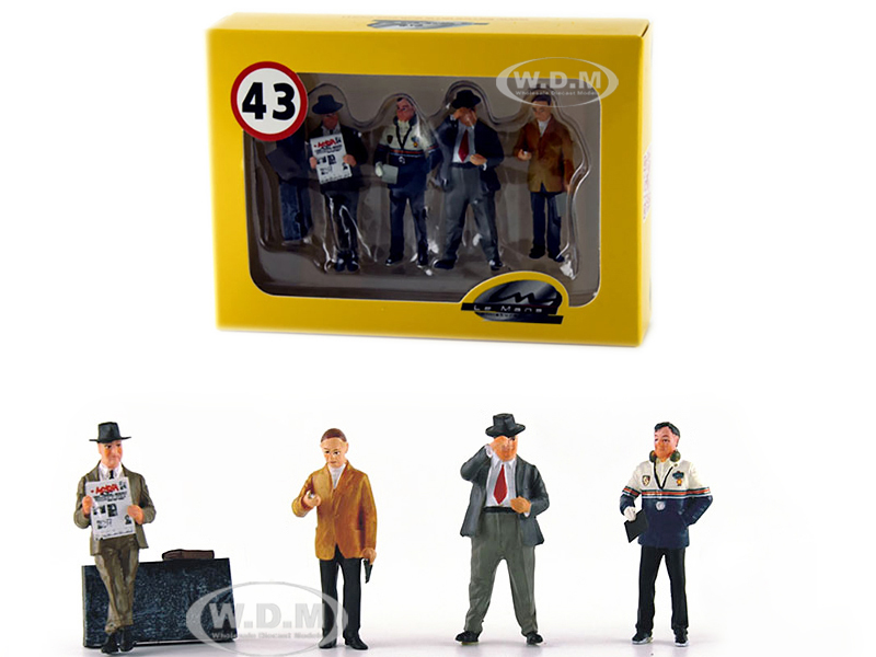 Four Team Managers Set of 4 Figurines for 1/43 Diecast Model Cars by Le Mans Miniatures
