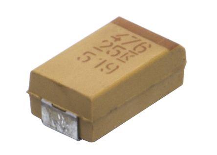 KEMET Tantalum Capacitor 47μF 25V dc MnO2 Solid ±10% Tolerance , T491 (5)