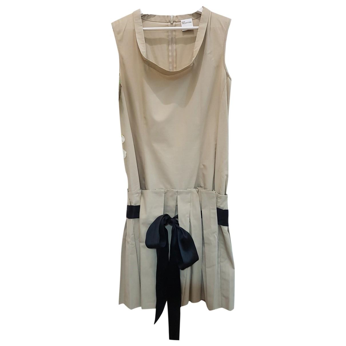 Red Valentino Garavani \N Kleid in  Beige Baumwolle
