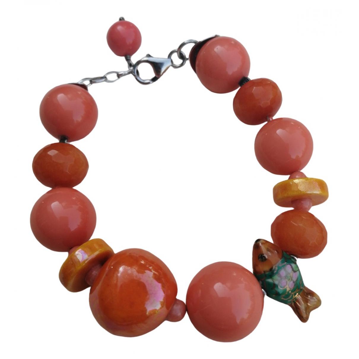 - Bracelet   pour femme en ceramique - orange