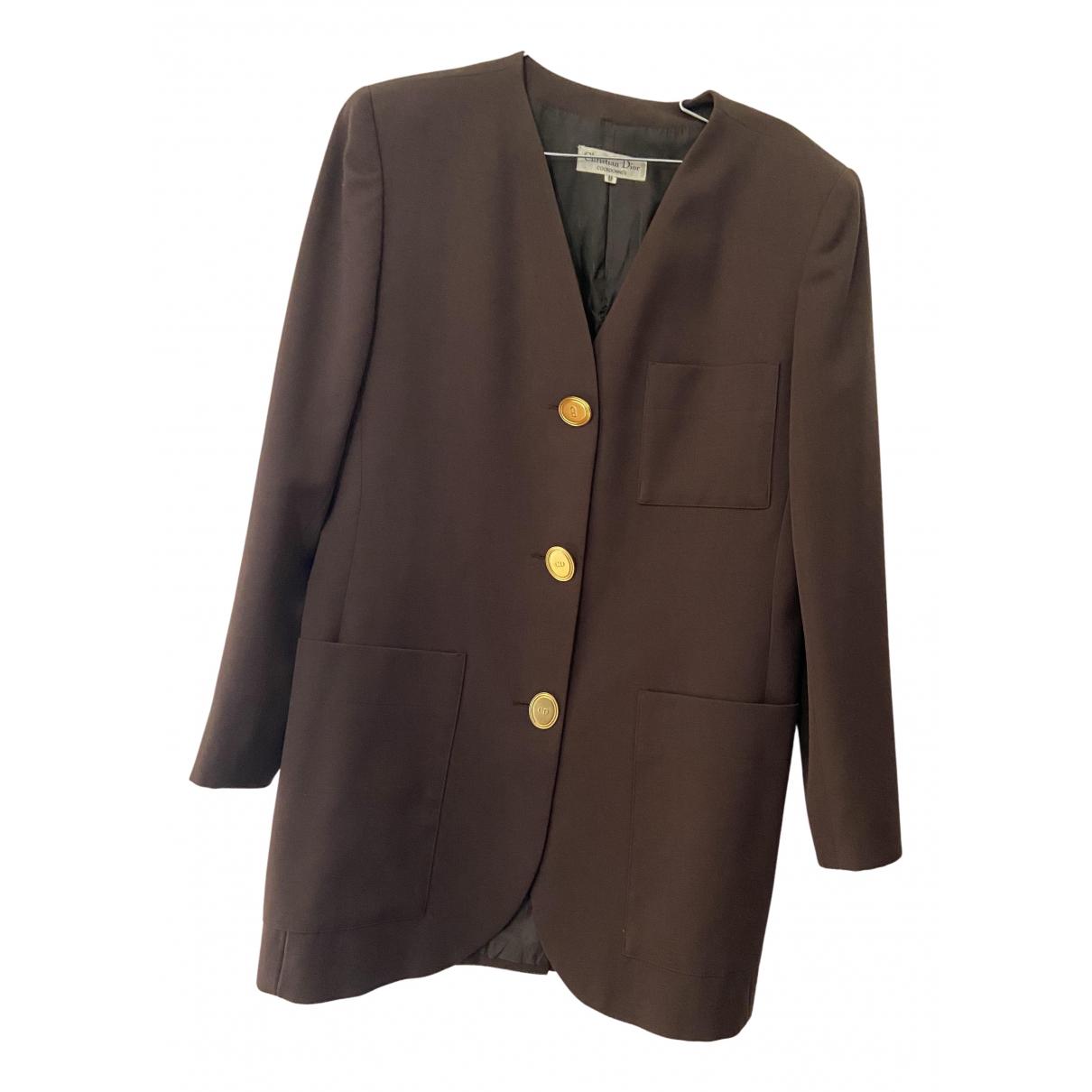 Dior N Brown Wool jacket for Women L International