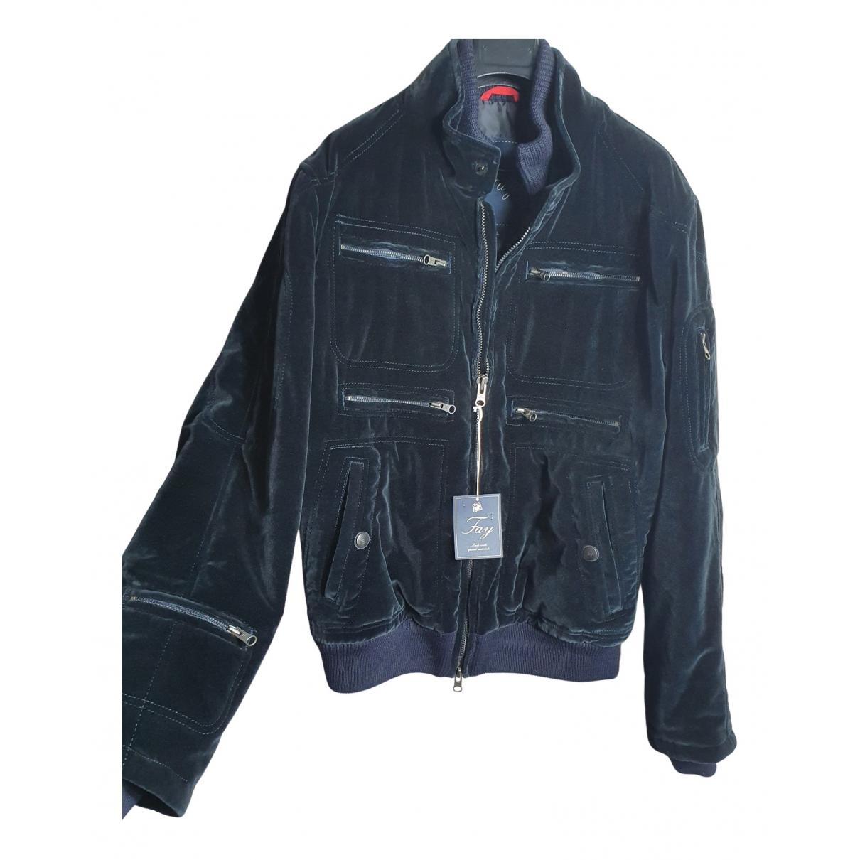 Fay N Black Cotton jacket  for Men XL International