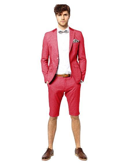 Suit Single Breasted Dark Pink