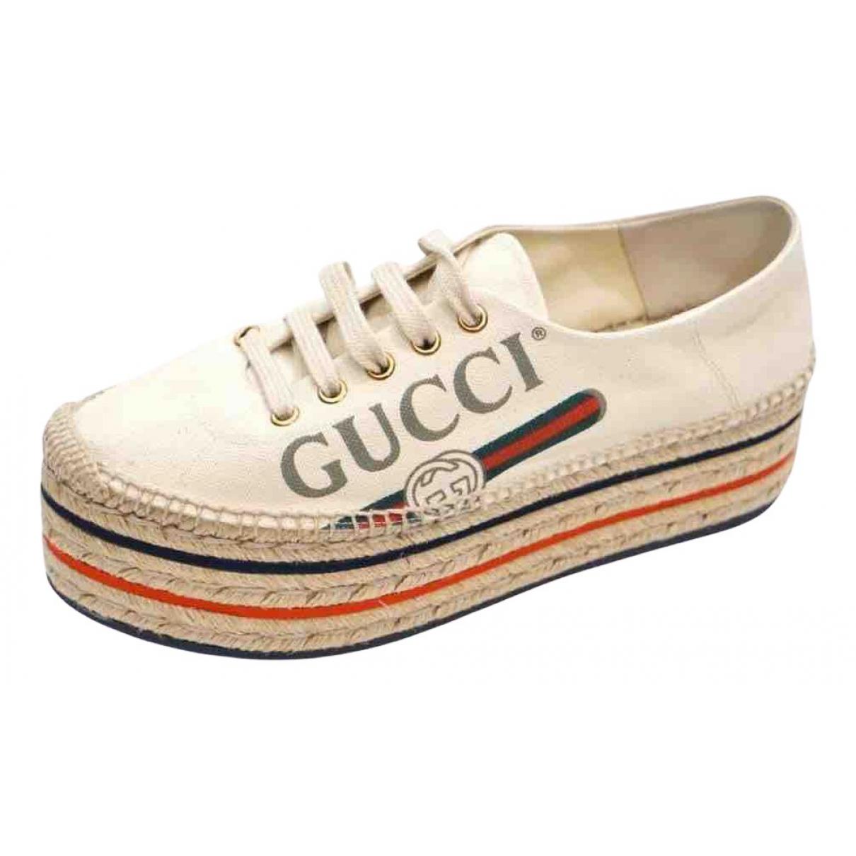 Gucci - Espadrilles   pour femme en toile - blanc
