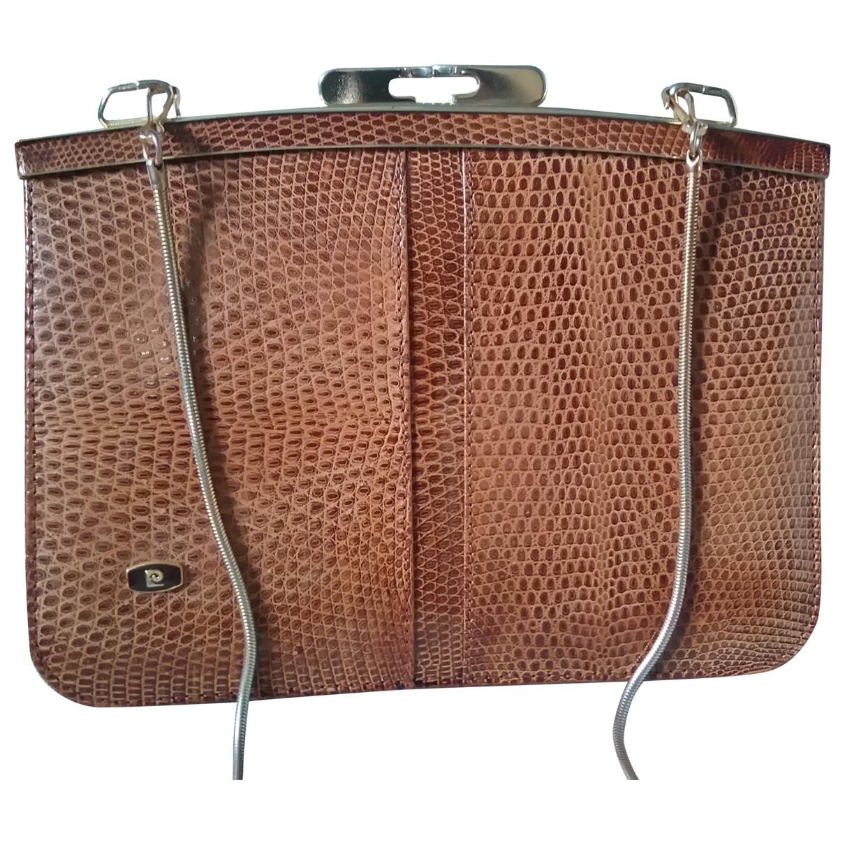 Pierre Cardin \N Handtasche in  Braun Echse