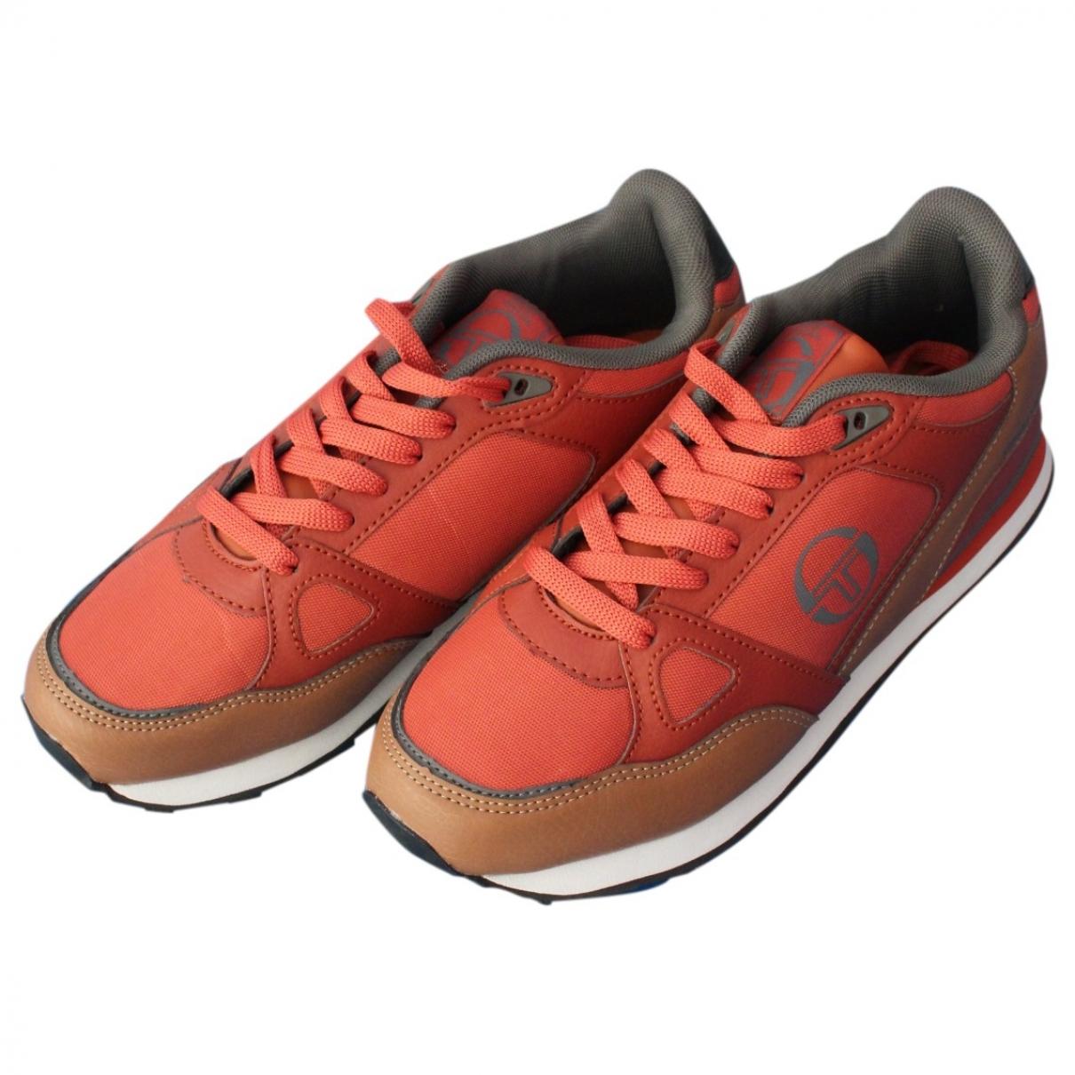 Sergio Tacchini - Baskets   pour homme en toile - orange