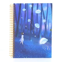 1pc Jellyfish Print Cover Notebook