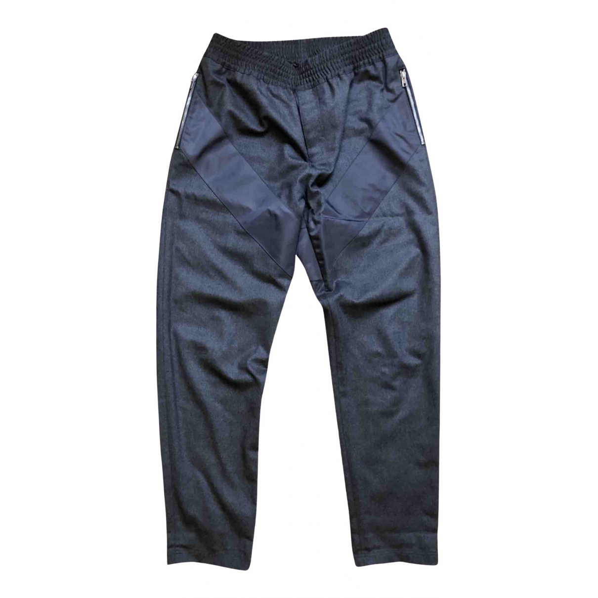 Givenchy \N Anthracite Wool Trousers for Men M International