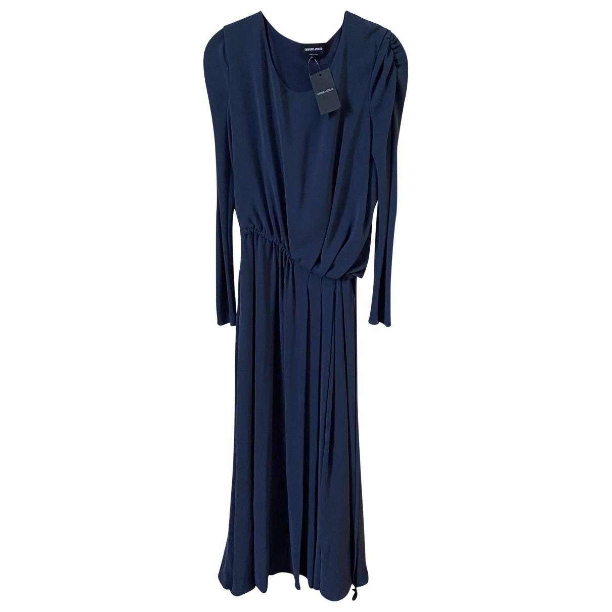 Maxi vestido de Seda Giorgio Armani